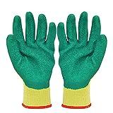 Dbtxwd 12 Paar Arbeitshandschuhe Für Die Arbeit Mechanische Wartung, Latex Beschichtet Atmungsaktiv Abriebfest Rutschfeste Schutzhandschuhe