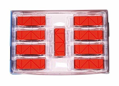 3D Origami Papier, bunt, mit Rillen auf Faltlinien–500Stück–einfache und schnelle Faltung–für 3D-Origami-Module auf 1/32 Grundlage,vergleichbar mit A490G-Blatt - Hochwertiges italienisches Papier, ohne Chlorin und gesundheitsschädliche Zusatzstoffe–Hergestellt in Italien–CE - Scarlatto 61