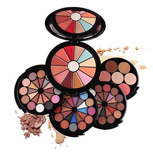 BrilliantDay 91 Farben Lidschatten Palette Make-up-Geschenkset Kosmetikset Kombination mit Lipgloss, Rouge, Concealer und Gepressten Puder - Perfekt für den Professionellen und Täglichen Gebrauch