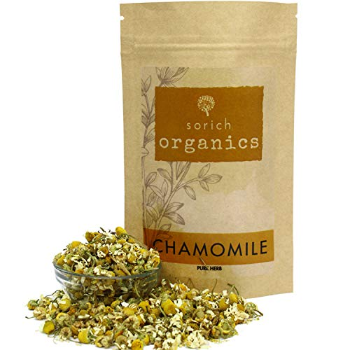 Sorich Organics Chamomile Flower Herbal Calming & Soothing Sleep Tea for Stress and Anxiety - 100 Gm
