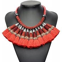 4322d96a3b19 Joyas Étnicas Borla Exagerada Colgante Collar Accesorios Hechos a Mano  Collar