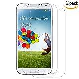 [2-Unidades] Samsung Galaxy S4 Protector de Pantalla, Y -ouni Cristal Templado Samsung Galaxy S4, Espesor 0,30 mm, 2.5D Round Edge, [9H Dureza] [Alta Transparencia] [Ultra Resistente a Golpes y Rayado] [Sin burbujas] [Ajuste Perfecto] [Garantía de por Vida] Protector Cristal Vidrio Templado para Samsung Galaxy S4