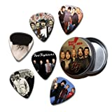 Foo Fighters Set of 6 Loose Guitar Médiators in Tin ( Collection A )