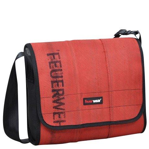 Feuerwear Walter Umhängetasche - Feuerwehrschlauch Tasche - (Rot)