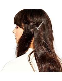 Joyas para el pelo, Sannysis pelo delicado Clip Pin garra accesorios, Clip de pelo (Plata)