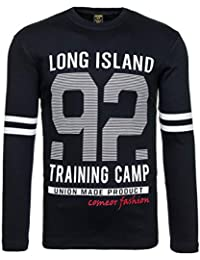 BOLF – T-shirt manches longue – Col rond – Pull de sport – Homme 1A1