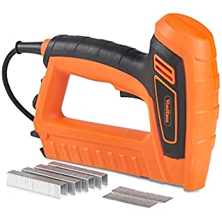 VonHaus 5A Electric Staple Gun & Nailer - Includes Staples & Nails Suitable For Fabrics, Upholstery & Cardboard