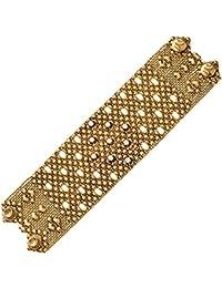 Sergio Gutierrez Liquid metal maglia x-wide diamond-pattern bracciale