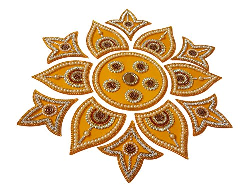 Anaya Industries Acrylic Rangoli (45 Cm X 2 Cm X 45 Cm, Orange, Set Of 13)