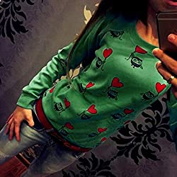Transer® Ladies Cute Owl Print Jumper, Women Casual T-shirt Sports Pullover Loose Tops