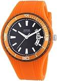 Guess Herren-Armbanduhr XL Analog Quarz Silikon W95143G5