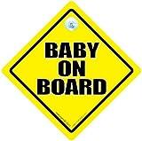 BébéÀ Bord Du Signe, Baby on Board, Jaune, Traditionnel bébéà bord du signe, Mixte bébéà bord du signe, signe de bébé, Autocollant, Autocollant Pare Choc, Petit-enfant À Bord, Maternité Panneau, nouveau bébé panneau, bébé En Voiture panneau