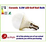3W LED Candle Bulb SES E14 Small Edison Screw Fitting for Chandelier/Candelabra,Warm white 3200K, Energy Saving, Special Offers Available