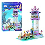 Ingenious Toys® The little mermaid lighthouse with working light & turing function - construction set #1116 mermaid