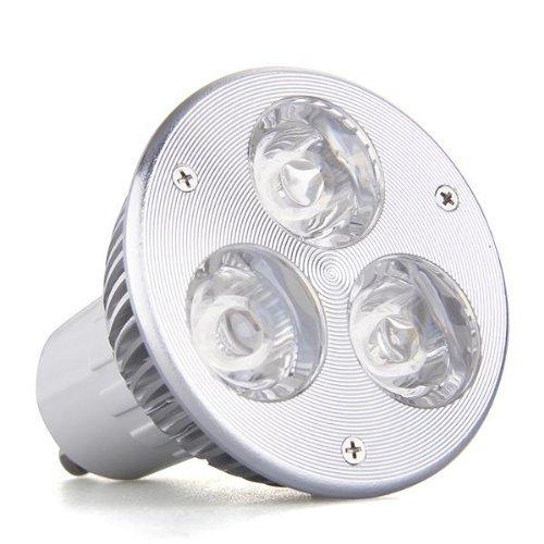 SODIAL(R) GU10 3W 3 LED Haute Puissance Lampe Ampoule du spot lumineux Lampe DC 12V Blanc chaud