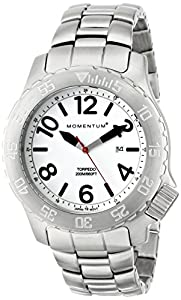 Momentum 1M-DV74L0 - Reloj de cuarzo para hombre, con correa de acero inoxidable, color plateado de Momentum
