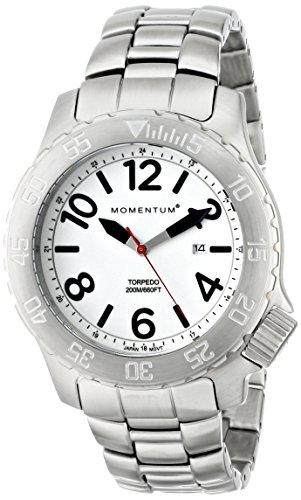 Momentum 1M-DV74L0 - Reloj de cuarzo para hombre, con correa de acero inoxidable, color plateado