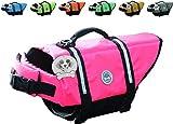Vivaglory Hundeschwimmweste Doggy Float Coat Wassersport Schwimmhilfe Rettungsweste für Hunde Haustier Mit Griff und Reflektoren, Rose, S