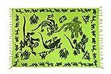 Ciffre - Copricostume - donna Gecko Neon Grün Schwarz GTHG taglia unica