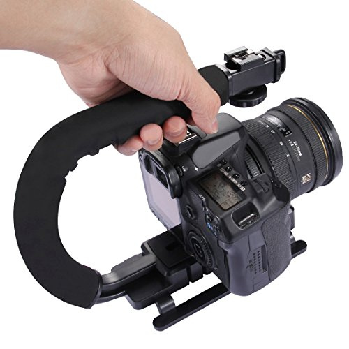 c-shaped-hand-held-Steadicam-STABILIZER-Full-kit-Puluz--c-grip-video-maniglia-staffa-flash-Hot-Shoe-Holder-testa-del-treppiede-adattatore-di-montaggio-del-morsetto-fibbia-a-sgancio-rapido-e-vite-lunga