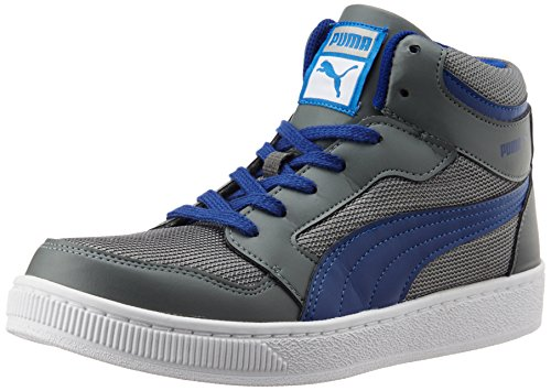 Puma Men's Rebound Mid Lite DP Limestone Grey and Sodalite Blue Sneakers - 8 UK/India (42 EU)