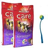 2 x 12,5 kg Mera Dog CARE REFERENCE weizenfreies Hundefutter + Ballschleuder