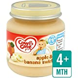 Cow & Gate 4 Mths + Apple & Banana Swirl 125g