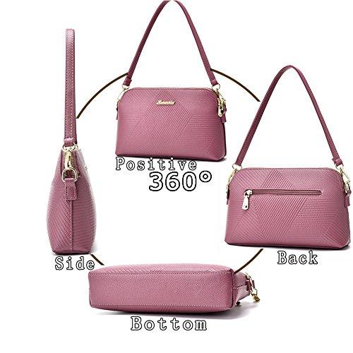 (G-AVERIL) Singolo sacchetto di spalla per le donne Crossbody Borsetta PU Impermeabile tracolla lunga / Body Bag Croce Moda con la Catena per Partito / Shopping / viola