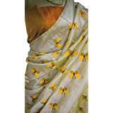 Harikrishnavilla Women's Latest Designer Party Wear New Collection Chanderi Cotton Bollywood Trendy Elegant 2018 Latest Designe Saree For Women With Bangalore Silk Unstitched Blouse ( Multi-Colour Butterfly, Free Size) - B07BJHDF75