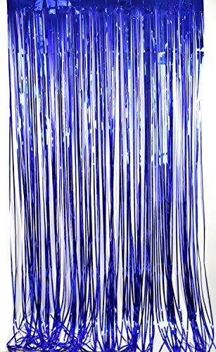 Cortina de papel para fiestas festivales cumpleaños decoración de hogar escuela hotel (Azul)