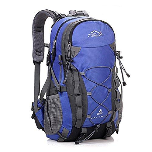ERWAA 40L Wanderrucksack Wasserdicht Trekkingrucksack Unisex Damen Herren Rucksack für Wandern Bergsteigen Camping Outdoor Reisen Klettern Blau