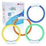 edealing (TM) 4 X nada bajo el agua Buceo hundimiento piscina anillos de juguete para los niños del cabrito