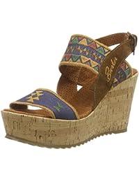 Bunker Sandal, Wedge sandales ouvertes femme