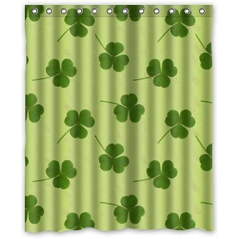 STARFISH fashion design Irish Shamrock,beautiful Shamrock art decor 100% Polyester Shower Curtain