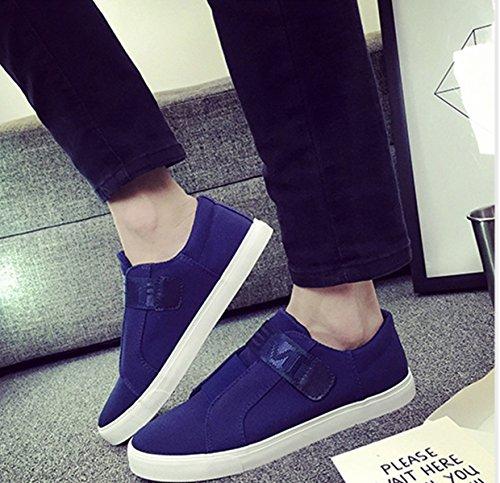 Damen Slipper Textil Canvas Atmungsaktive Lässige Fashion Bequeme Leichtgewicht Flache Damen Freizeit Slipper Blau