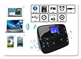 Heden SPKHRV3400 - Altavoz Bluetooth (2 altavoces de 3 W, múltiples fuentes: FM, despertador, entrada auxiliar, USB, reloj) color negro