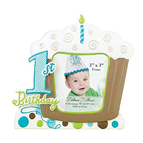 Cadre 1er anniversaire du nouveau-né Bébés garçons Image photo cadeau