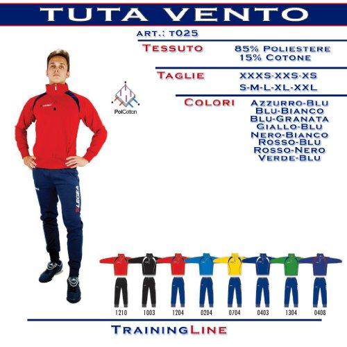 Legea Training Tuta Vento Rosso/Nero