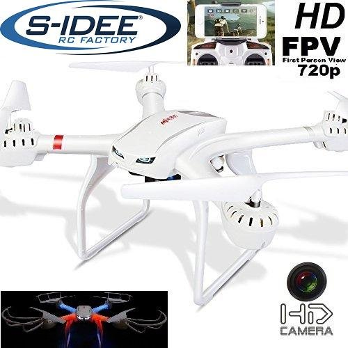 s-idee 01516 Quadrocopter X101 Wifi HD Kamera mit Tonaufzeichnung MJX X101 One Key Return, Coming / Headless Mod 360° Flip Funktion, 2.4 GHz, 4-Kanal, 6-AXIS Stabilization System
