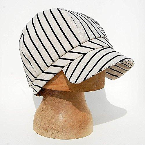 6b93e1fbe7204 ZUT hats - cotton cap in cream striped linen - ZUTjean - Buy Online in  Oman.