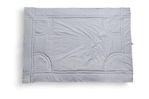 Baby Krabbeldecke grau mit Sternen personalisiert aus Baumwolle groß & gepolstert