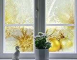 Fenster Wandbild Weihnachten Magic Quattro Fenster Aufkleber Fensterfolie Fenster Tattoo Glas Aufkleber Fenster Kunst Fenster Décor Fenster Dekoration, Maße: 30cm x 30cm