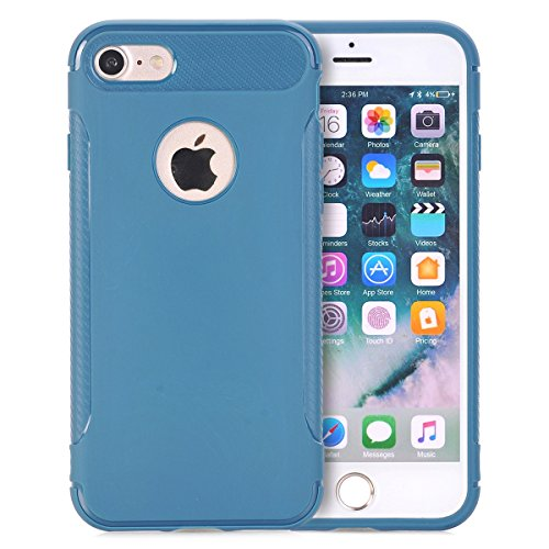 iPhone6/6S Coque,EVERGREENBUYING Ultra Slim léger Etui IPHONE 6 Cases Housse Premium Anti-rayure & TPU doux Antiglisse Cover pour iPhone 6 / 6S Rouge Bleu