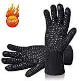 SanXingRui BBQ Grilling Gloves 1472°F Kitchen Cooking Barbecue Silicone Gloves Five Fingers Extreme