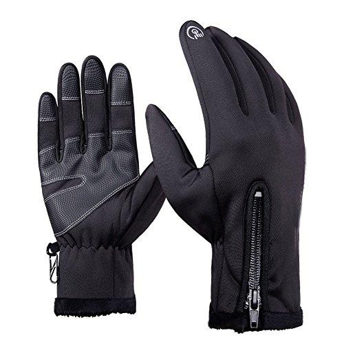 Rokoo Winter Outdoor Sport Männer Frauen Warme Handschuhe Reißverschluss Neopren Touchscreen Winddicht Wasserdicht Handschuh