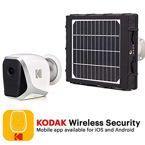 KODAK W101 Cámara de Vigilancia y Panel Solar - Full HD 1080p,...