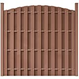 Festnight Round Garden Fence Panel Security Fencing WPC Brown