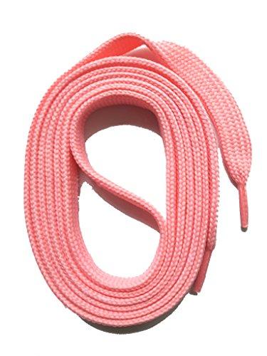 SNORS flache Schnürsenkel ROSA 100cm, 11-12mm breit, reißfest, Polyester, Made in Germany für Sportschuhe Sneaker Turnschuhe und Halbschuhe - ÖkoTex