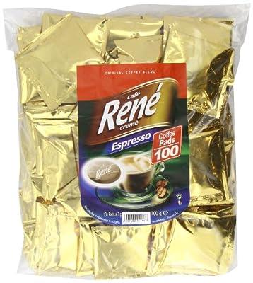 Café Rene Crème Espresso Coffee Pads (Pack of 1, Total 100 Coffee Pads)