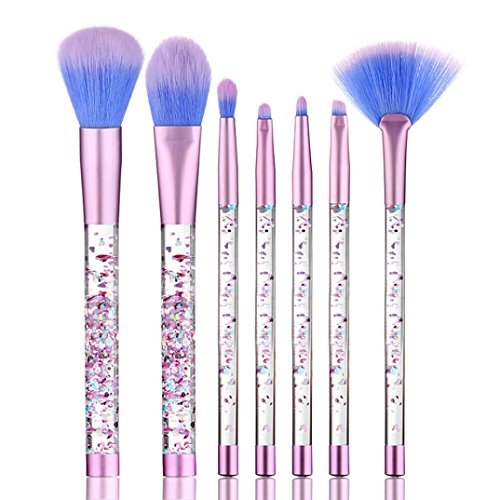 7PCS Kosmetik Make-up Pinsel für Gesicht und Auge,WYXlink Pinsel Set Stiftung Pulver eyeshadow (Multicolor)